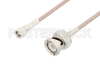 SMC Plug to BNC Male Cable 72 Inch Length Using RG316 Coax -- PE3C2599-72 -Image