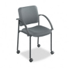 Safco Moto Stacking Chairs, Gray Fabric Upholstery, 2/Carton -- SAF4184CH