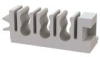 Fiber Clips - 3 Slot, 6 Cables, 3mm, Adhesive Mount -- OFEB-3-19 -- View Larger Image
