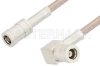 SMB Plug to SMB Plug Right Angle Cable 72 Inch Length Using RG316-DS Coax, RoHS -- PE34485LF-72 -Image