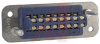 connector,rack and panel,ribbon contactplug,solder eyelet term,16 contact -- 70144696