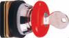30mm Non- Illuminated Mushroom with Key Push Buttons -- AMKB2