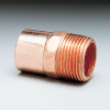 Pipe thread adapter, male fitting, copper, 7/8
