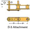Double Pitch Conveyor Lambda Chain Attachment -- C2040-LAMBDA-D-3 - Image