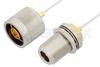 N Male to N Female Bulkhead Cable 24 Inch Length Using PE-SR047FL Coax -- PE34156-24 -Image