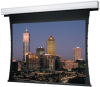 Video Format Tab Tensioned Ceiling Recessed Electric Front Projection Screen. -- Video Format