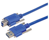 USB 3.0 Cable, Type A/B with Thumbscrew Hardware 0.5M -- MUS3A00022-05M -Image