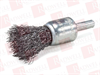 """MERCER TOOL 180020B ( CRIMPED END BRUSHES - DRILLS AND DIE GRINDERS, 1"""" X 1/4"""" SHANK, WIRE TYPE .008 CARBON STEEL ) -Image"""
