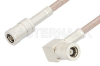 SMB Plug to SMB Plug Right Angle Cable 12 Inch Length Using RG316-DS Coax, RoHS -- PE34485LF-12 -Image