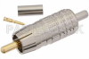 75 Ohm RCA Male Connector Crimp/Solder Attachment For Mini 59, PE-B159 -- PE44622 -- View Larger Image