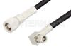 SMC Plug to SMC Plug Right Angle Cable 36 Inch Length Using PE-B100 Coax -- PE34502LF-36 -Image