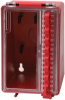 Brady Red Polyurethane Group Lockout Box 50938 - 4 in Width - 6.2 in Height - 8 Padlock Capacity - 754476-50938 -- 754476-50938 - Image
