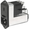 IEC Appliance Inlet C14 with Filter, Fuseholder 1-or 2-pole (5 x 20 mm or 6.3x32 mm, with or without voltage selector (series-parallel) -- CE - Image