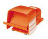 Heavy Duty Industrial Foot Switch Cast Metal, Alert Orange -- 78366721256-1