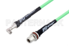 SMA Male Right Angle to N Female Bulkhead Low Loss Test Cable 150 cm Length Using PE-P300LL Coax, RoHS -- PE3C3245-150CM -Image