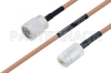 MIL-DTL-17 N Male to N Female Cable 36 Inch Length Using M17/128-RG400 Coax -- PE3M0065-36 -Image
