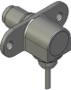 Honeywell Harsh Application Aerospace Proximity Sensor, HAPS Series, Right angle cylindrical flanged form factor, 2,50 mm/3,50 range, 3-wire open collector output normally closed, 213,36 cm [84.0 in] -- 1PRFD3BHGN-000 -- View Larger Image