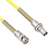 Halogen Free Cable Assembly TRB 3-Slot Plug to Non-Insulated Bulk Head 3-Lug Cable Jack with Bend Reliefs .245