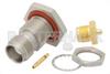 TNC Female Bulkhead Mount Connector Solder Attachment for PE-SR405AL, PE-SR405FL, PE-SR405FLJ, RG405, .480 inch D Hole -- PE4147 -Image