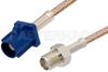 SMA Female to Blue FAKRA Plug Cable 24 Inch Length Using RG316 Coax -- PE39346C-24 -Image