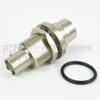 BNC Female (Jack) to C Female (Jack) Bulkhead Adapter, Nickel Plated Brass Body, 1.4 VSWR -- SM3535 - Image