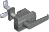 Surface Mounted Insulated Door Latch -- 1000 - Image