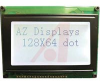 LCD;Graphic Module, 128X64, Reflective,No Backlight, Gray Mode STN, Bottom View -- 70039313 - Image