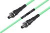 Temperature Conditioned SMA Female Bulkhead to SMA Female Bulkhead Low Loss Cable 100 cm Length Using PE-P142LL Coax -- PE3M0144-100CM -Image