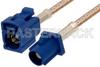 Blue FAKRA Plug to FAKRA Jack Cable 24 Inch Length Using RG316 Coax -- PE38756C-24 -Image