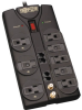 Protect It! 8-Outlet Surge Protector, 10-ft. Cord, 3240 Joules, Modem/Coax/Ethernet Protection, RJ45 -- TLP810NET