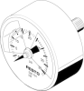 Pressure gauge -- MA-50-36-R1/4-PSI-E-RG -Image