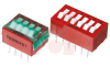 Switch, DIP; 0.880 in. L x 0.380 in. W;8; SPST; Thru-Hole; 0.1 in.; 0.02 in. -- 70216660 - Image