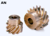 18.38mm PD Aluminum-Bronze Screw Gears -- AN1-13L - Image