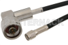 SMA Male to N Male Right Angle Cable 48 Inch Length Using RG58 Coax -- PE3076-48 -Image