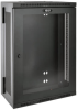 SmartRack 18U Low-Profile Patch-Depth Wall-Mount Rack Enclosure Cabinet with Clear Acrylic Window, Hinged Back -- SRW18US13G -- View Larger Image