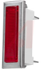 Indicator,Pnl-Mnt;Red;Incandescent;28 V;0.04 A;White Nylon;Rectangular;Snap Fit -- 70214048