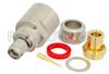 SMA Male Connector Clamp/Solder Attachment For PE-SR401AL, PE-SR401FL, RG401 -- PE4403 -Image