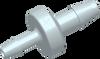 Barb to Barb Enlarging Disc Check Valve -- AP19CV025R37SL -- View Larger Image