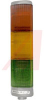 Stacklight, Steady-on Incandescant Triliptical, 120 VAC, Red, Amber, & Green -- 70016582
