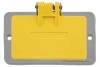 Outlet Box Coverplate, GFCI-Yellow -- 5RWE8
