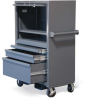 Mobile Cabinet w/ Drawers & Lift-Up Lid -- 3.24.4-221-1SOS-2DB-FLP-CA-KL -- View Larger Image