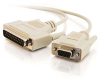 10ft DB25 Male to DB9 Female Null Modem Cable -- 2301-03020-010