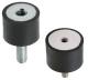 Rubber Vibration Damper (Sud / Tapped) -- VD2 -- View Larger Image
