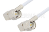 SMA Male Right Angle to SMA Male Right Angle Cable 18 Inch Length Using RG188 Coax, RoHS -- PE3511LF-18 -Image