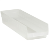 23 5/8in x 6 5/8in x 4in Clear - Plastic Shelf Bin Boxes -- BINPS122CL