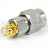 Precision SMA Male (plug) to SMP Female (Jack) Adapter, Passivated Stainless Steel Body, High Temp, 1.2 VSWR -- SM8809 - Image