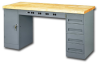 TENNSCO ELECTRONIC WORKBENCHES WITH MODULAR CABINETS -- HEMB-2-3072P