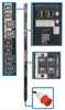 TAA Compliant 3-Phase Switched PDU, 18kW, 24 240V Outlets (12 C13, 12 C19), IEC309 30A Red (3P+N+E) 415V Input, 0U Vertical Mount -- PDU3XVSR6G3ATAA