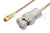 BNC Male to SSMC Plug Cable 72 Inch Length Using RG178 Coax -- PE3C4397-72 -Image