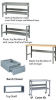 WORK BENCH WITH LOWER SHELF, STRINGER AND BACK AND END STOPS -- H806-P-424 - Image